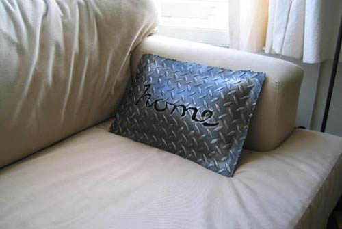 Checker Plate Throw Pillow