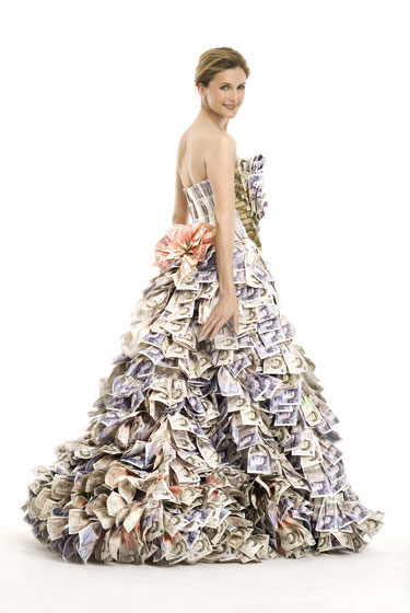 Dress Made From Money