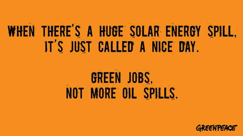When There's A Huge Solar Energy Spill, It's Just Called A Nice Day by Greenpeace