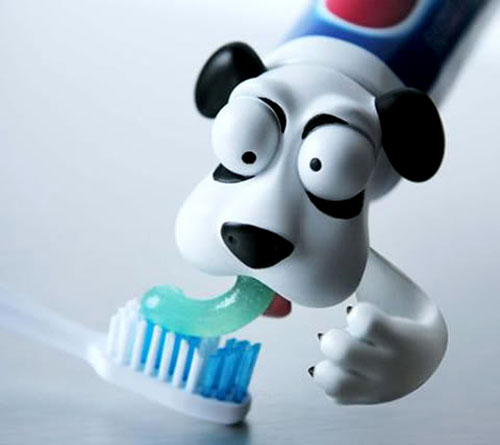 Dog Head Toothpaste Cap