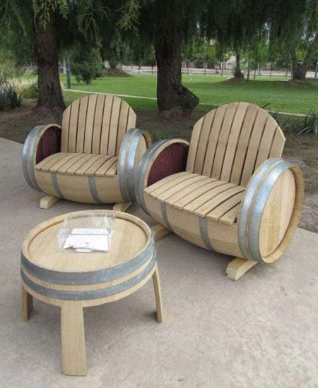 Barrel Patio Chairs