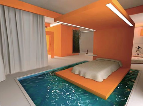 10 wackiest coolest swimming pool designs in the world Bedroom swimming pool design