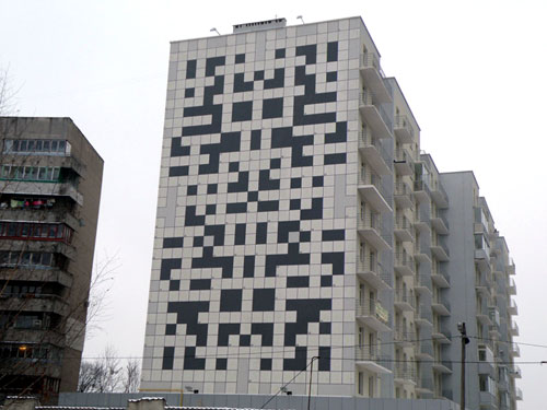 Crossword Apartment Building in Lvov, Ukraine