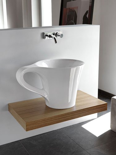 Coffee Cup Shaped Sink
