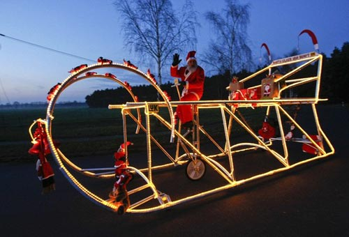 Santa Bicycle Sleigh
