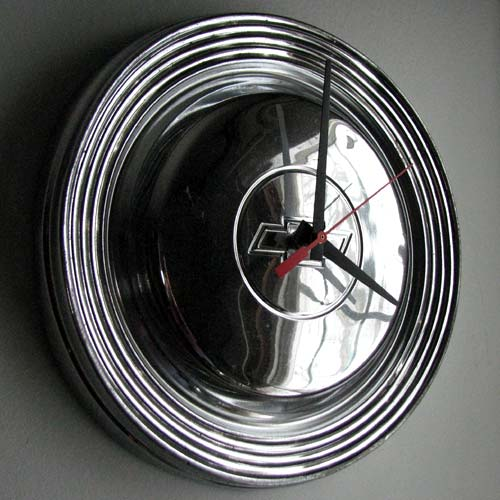 Chevy Hubcap Clock