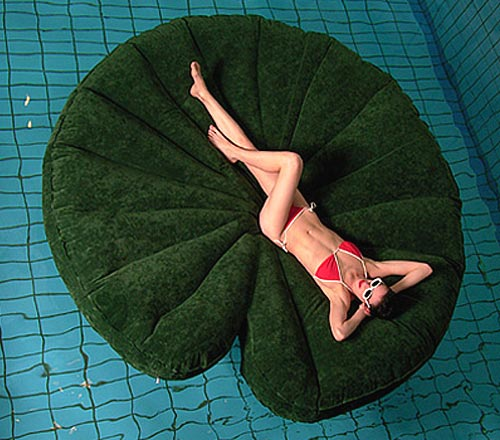 Eight Feet Round Inflatable Lily Pad Raft
