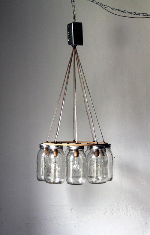 Hanging Mason Jar Chandelier Lighting