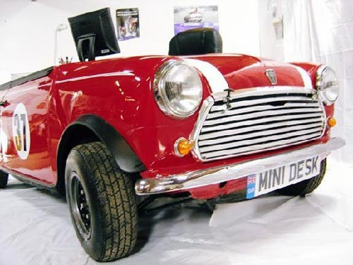 Mini Cooper Office Desk Front
