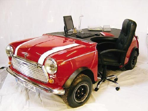 Mini Cooper Office Desk Rear