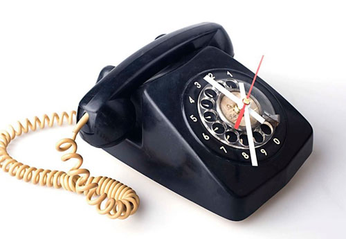 Rotary Telephone Clock
