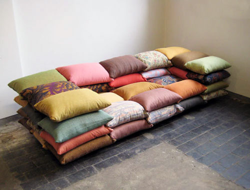 Stacked Pillow Sofa