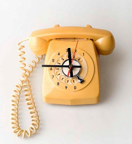Vintage Rotary Telephone Clock