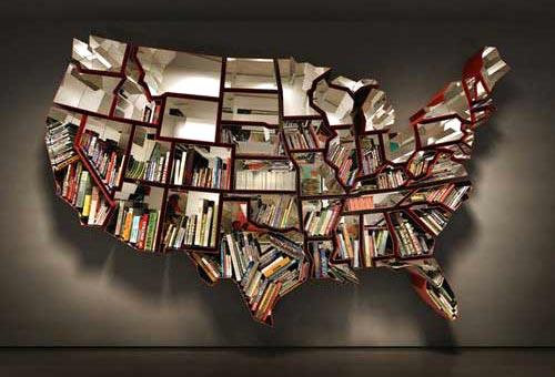 Contiguous United States Bookshelf