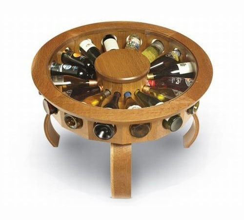 Coffee Table Wine Rack