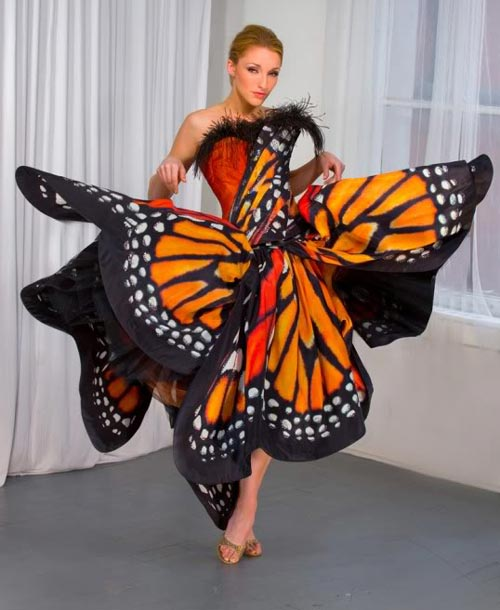 Monarch Butterfly Gown