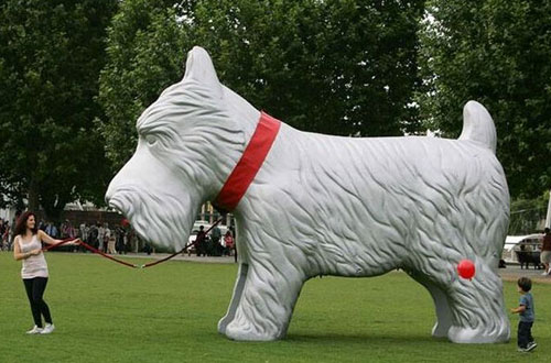 Giant Inflatable Scottish Terrier