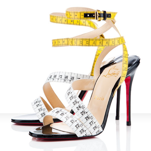 High Heel Shoes With Measuring Tape Straps