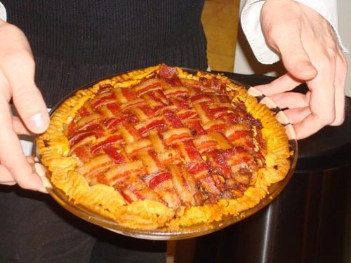 Bacon Topped Apple Pie