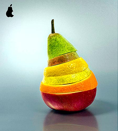Layered Fruit Art