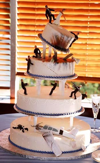 Gangster Tiered Wedding Cake
