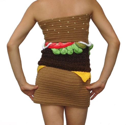 Hamburger Dress Back