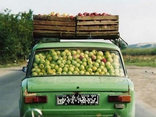 Car Full Of Apples