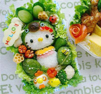 Hello Kitty Kyaraben Bento Box