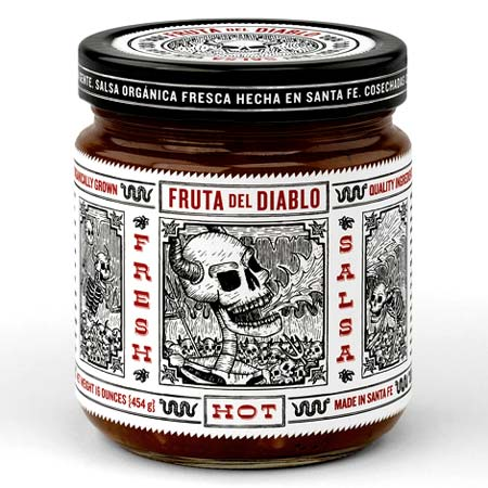 Illustrated Salsa Packaging | Fruta Del Diablo