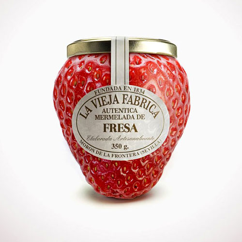 Strawberry Shaped Jam Jar