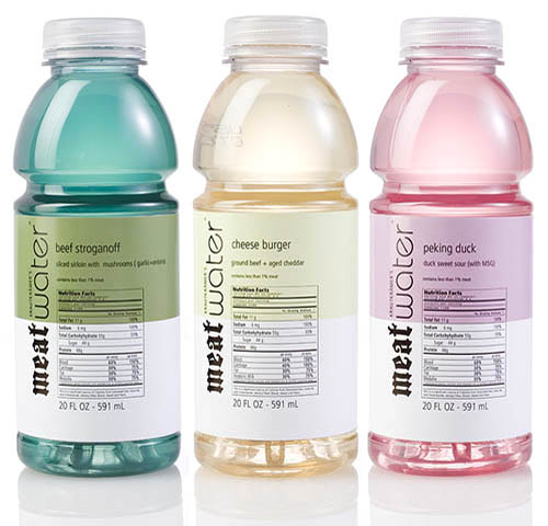 Bottled Water Flavors | Beef Stroganoff, Cheese Burger and Peking Duck Flavors