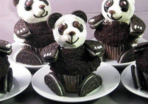 Panda Shape Oreo Cupcakes