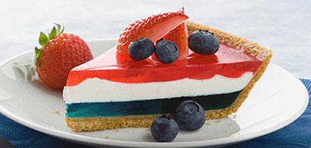 Red, White and Blue American Jello Pie