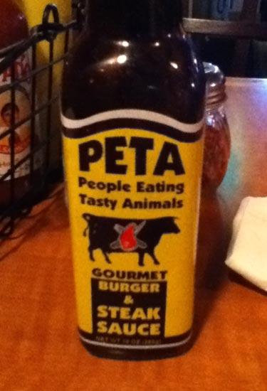 PETA Steak Sauce