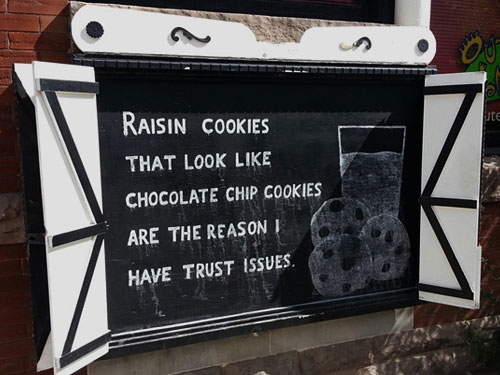 Cookies With Raisins Or Chocolate Chips