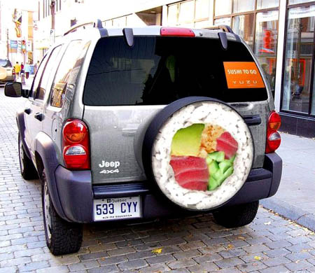 Sushi To Go Delivery Jeep