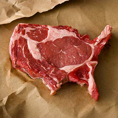 United States Shaped Steak