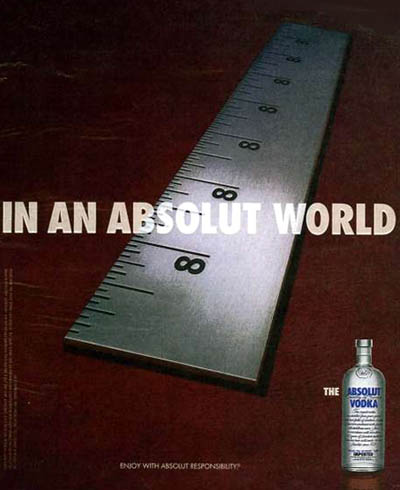 Absolut Vodka | Absolut World Print Ad