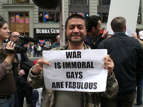 War Is Immoral, Gays Are Fabulous