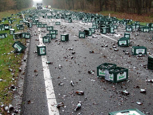 Beer Delivery Accident