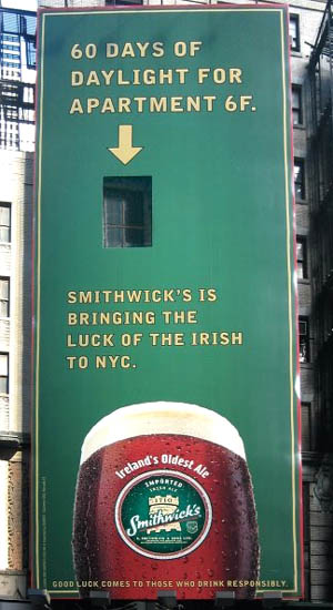 Smithwicks Beer Billboard Ad