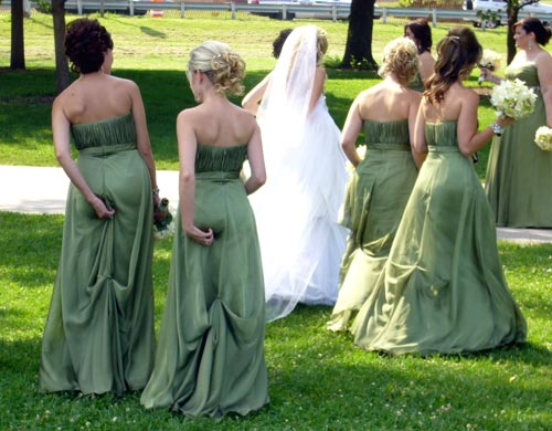 Bridesmaids Adjusting Their Underwear