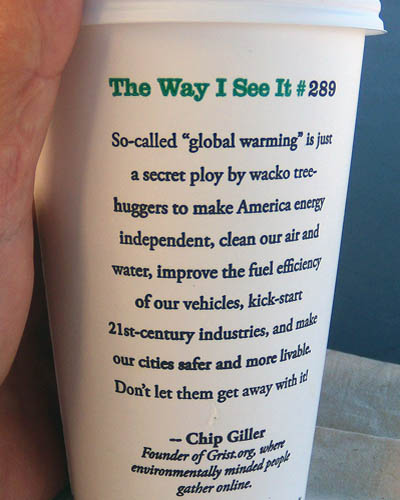 So-Called Global Warming | Starbucks Coffee Cup