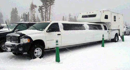 Dodge Extended-Cab Limo With Camper