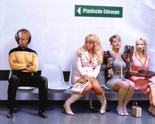 Star Treks Worf waiting for cosmetic suregery