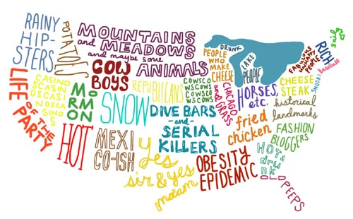 US States Stereotypes Map