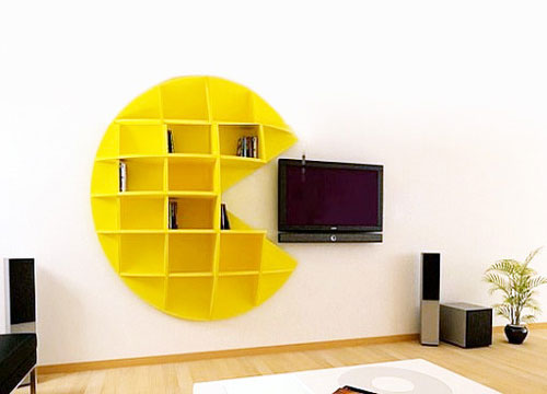 Pac-Man Bookcase