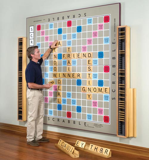 Giant Wall Scrabble Board
