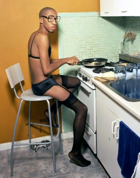 Cooking In Womens Underwear