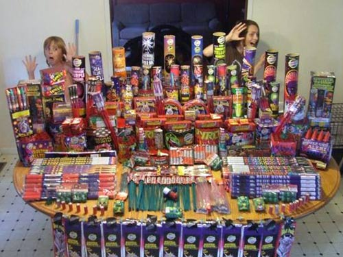 Table Full of Fireworks